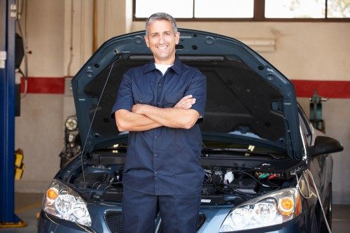 Confident Covina Auto Repair Technician